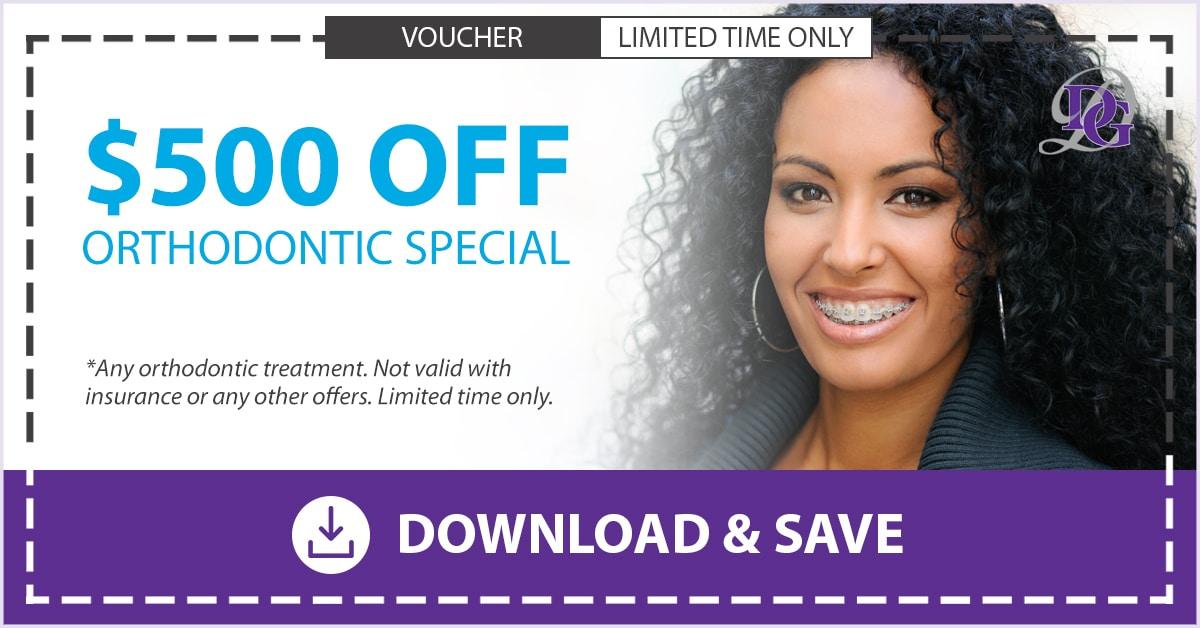 $500 orthodontics coupon