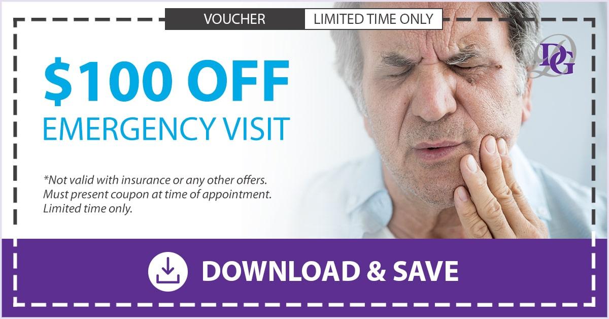 $100 dental emergency coupon