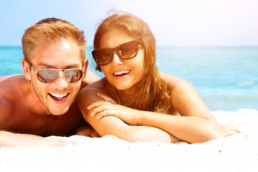 Couple Smiling on a Beach